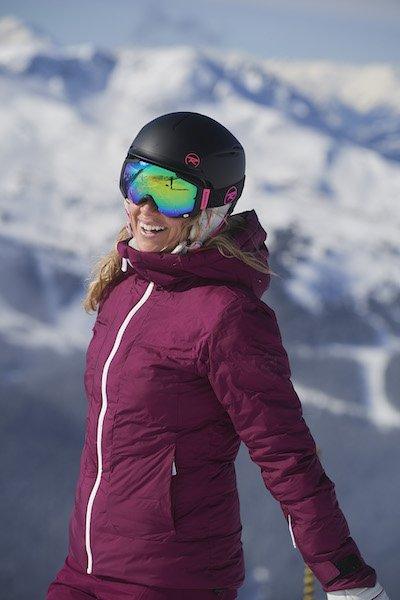 pack casco + gafas de esquí