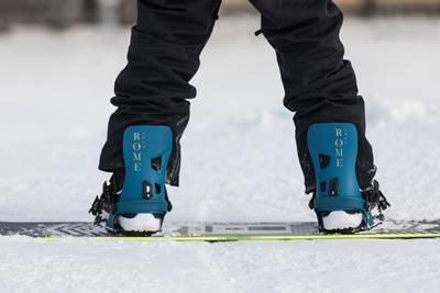 fijación clásica de snowboard